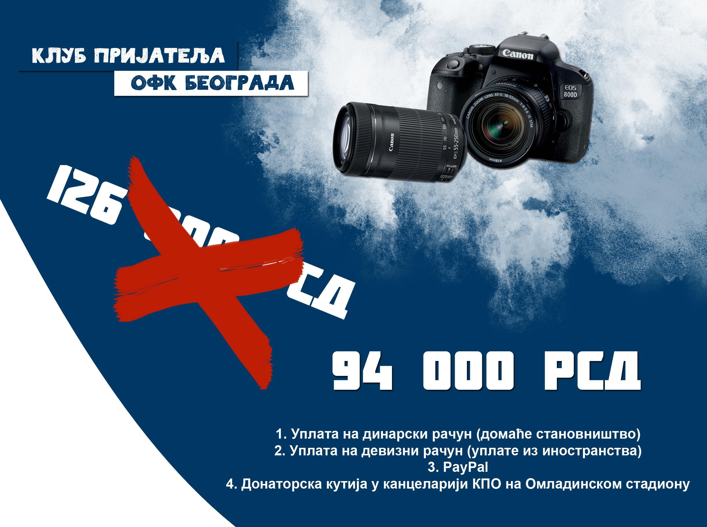 Наставља се скупљање средстава за фото апарат. Нови износ приступачнији